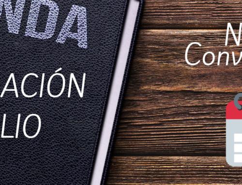 CONVOCATORIA DE FORMACIÓN JULIO 2020
