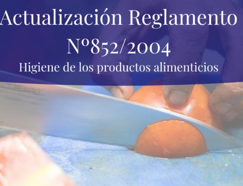 Actualización Del Reglamento Nº852/2004 de la Higiene de los Productos Alimenticios